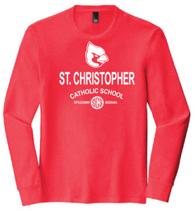 St. Christopher District Made Perfect Tri Long Sleeve T-Shirt - Red Frost