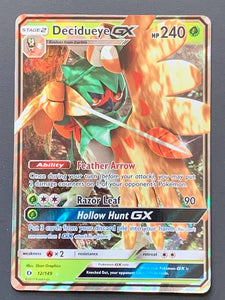 Decidueye GX - Full Art - Sun and Moon base - TLC Pins