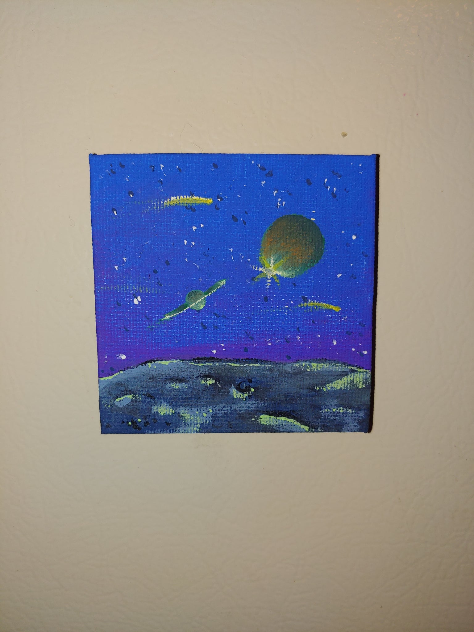 Space mini magnet painting - TLC Pins