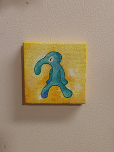 'Bold and Brash' mini painting magnet