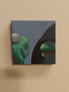 'Kermit' mini canvas magnet - TLC Pins