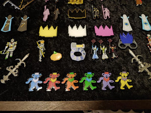 Grateful Dead Marching Bears with Partyhats - TLC Pins