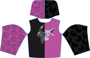 Umbreon / Espeon Split mid-weight hoodie