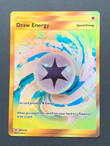 Draw Energy - Secret Rare - Cosmic Eclipse - TLC Pins