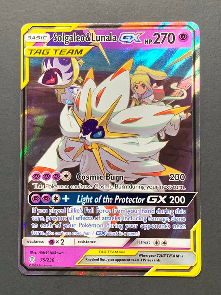 Solgaleo & Lunala GX - Full Art - Cosmic Eclipse - TLC Pins