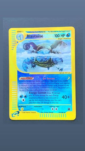 Blastoise (37/165) - Reverse Holo - Expedition - Near Mint - TLC Pins