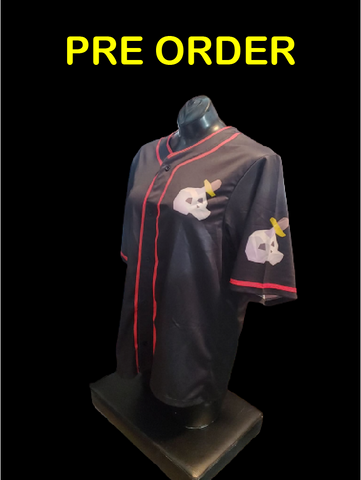 'slayer' themed baseball jersey pre order
