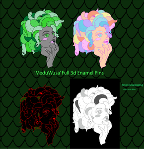 MeduWusa Full Set Pre Order (1 per person) - TLC Pins