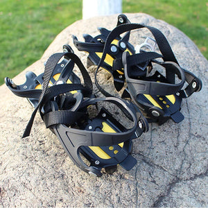 thegsnd 1 Pair Outdoor Anti-Slip 10 Teeth Ice Claw Climbing Shoes Covers Ice Crampons Shoes Ice Gripper Ski Ice Snow Hiking Outdoor Tool  <span class=money>$83.8</span> Hiking Tool, Survival Accessories, Surviving Kit, Trekking Tool Surviving Kit <span class=money>$98.8</span>