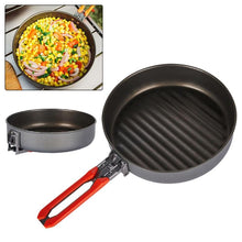 Load image into Gallery viewer, thegsnd 1 Pcs Corrosion Resistant Outdoor 0.9L Non-stick Frying Pan W/ Foldable Handle For Camping Hiking Gathering Cooking  <span class=money>$70.8</span> Hiking Accessories, Hiking Tools, Survival Accessories, Surviving Kit, Trekking kit, Trekking Tools Surviving Kit <span class=money>$82.8</span>