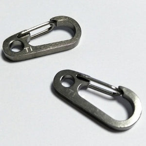 thegsnd 10 pcs EDC Outdoor camping hiking Tool Titanium TC4 spring buckle alloy Carabiner Snap Clip Hook keychain Quickdraw buckle J077  <span class=money>$91.8</span> Hiking Accessories, Hiking Tools, Survival Accessories, Surviving Kit, Trekking kit, Trekking Tools Surviving Kit <span class=money>$107.8</span>