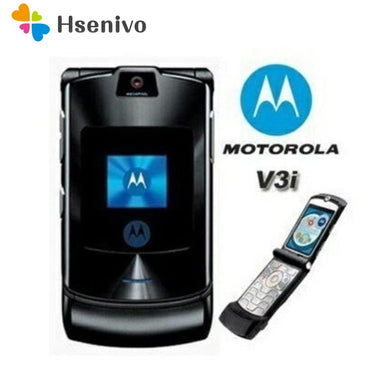 100% ORIGINAL Motorola RAZR V3i UNLOCKED Mobile Phone GSM Flip Bluetooth Phone - thegsnd
