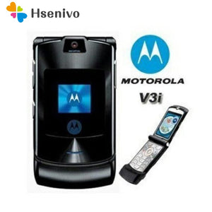 thegsnd 100% ORIGINAL Motorola RAZR V3i UNLOCKED Mobile Phone GSM Flip Bluetooth Phone  <span class=money>$164.8</span> Cellphone, IFP-NO-SYNC, Moto RAZR, Motorola Cellphone, Motorola Flip Phone Cellphone