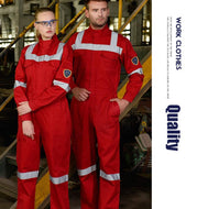 100%cotton red satety FR flame retardant coveralls for oil and gas - thegsnd
