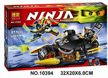 Load image into Gallery viewer, thegsnd 10394 Ninjagoed Bricks Ninjago Blaster Bike Car Building Blocks Kit Action Figures Model 70733 Compatible with Legoe Ninja  <span class=money>$41.8</span> blocks, building blocks, kids block puzzle, kids building blocks, kids game, kids gaming zone, kids ninja motor bikes, kids play, kids playing zone, kids puzzle, Kids soft toys, kids toys, puzzle Kids Playing Zone <span class=money>$49.8</span>