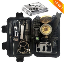 Load image into Gallery viewer, thegsnd 12 in 1 Camping Survival Kit Set Outdoor Travel Multifunction First aid SOS EDC Emergency Supplies Portable Tourism Equipment  <span class=money>$131.8</span> Equipment Useful In Forest, Hiking Accessories, Survival Accessories, Trekking Accessories Survival Accessories <span class=money>$155.8</span>
