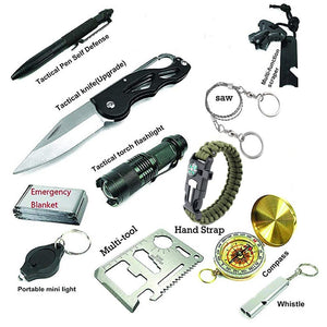 thegsnd 12 in 1 Camping Survival Kit Set Outdoor Travel Multifunction First aid SOS EDC Emergency Supplies Portable Tourism Equipment  <span class=money>$131.8</span> Equipment Useful In Forest, Hiking Accessories, Survival Accessories, Trekking Accessories Survival Accessories <span class=money>$155.8</span>