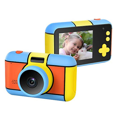 Kids Digital Camera 2.4 Inch IPS HD Screen Anti-Drop Children's Camera Camcorder with 1080P Intelligent Optical Sensor Lens & 2400W Pixel Dual Lens& LED Flash(No Included SD Card) - thegsnd