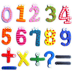 15 Pcs/set Wooden Montessori Baby Number Refrigerator Fridge Magnets Figure Stick Mathematics Kids Educational Toys for Children - thegsnd