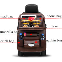Load image into Gallery viewer, Car Seat Back Bag Folding Table Organizer Pad Drink Chair Storage Pocket Box Travel Stowing Tidying Automobile Accessories - thegsnd
