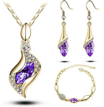 Load image into Gallery viewer, A Gold Filled Colorful Austrian Crystal Drop Jewelry Sets - thegsnd