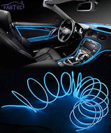 FABTEC EL Wire Car Interior Light Ambient Neon Light For All Cars (5 Meter) (BLUE)