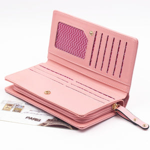 Envelope Women Wallet Cat Cartoon Wallet Long Creative Female Card Holder PU Wallet Coin Purses Girls - thegsnd