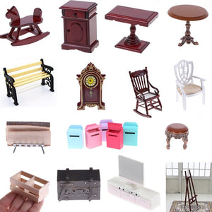 1PC Miniature Furniture Simulation Fitment Resin Toys Girls Gift Micro Landscape Toy Doll house Decor - thegsnd