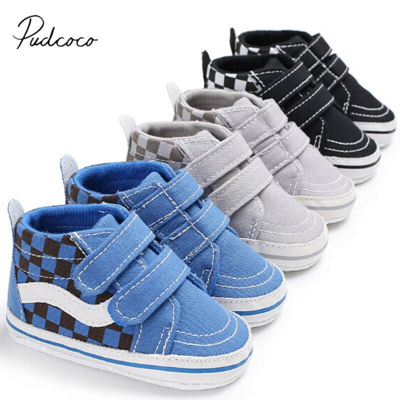 Newborn Baby Girl Boys Cotton Diamonds Shoes Infant First Walkers Soft Shoes