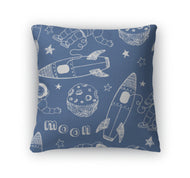 Throw Pillow, Rockets Pattern-Throw Pillow-Gear New-thegsnd