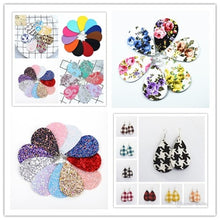 Load image into Gallery viewer, 30pair/lot New Bohemian Fashion Jewelry simple pendant drop earrings for women glitter tear leather Earrings 36 colour - thegsnd
