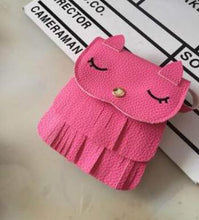 Load image into Gallery viewer, Kids cat purse wallets for children Cute pattern tassel Bags Shoulder Bag Cute monederos para mujer - thegsnd