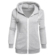 Load image into Gallery viewer, Women's Classic Hoodies Jackets Spring Autumn Zipper Hoody Sweatshirts Jacket Solid Slim Fit Hoodie - thegsnd