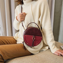 Load image into Gallery viewer, Vintage Scrub Leather Round Designer Crossbody Bag For Women 2019 PU Leather Shoulder Bags Ladies Small Handbags Mini Tote Bag - thegsnd