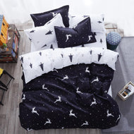 3D Universe Stars Bedding 3 / 4pcs Kit Cartoon BedSheet Pillowcase Bedclothes Bed Linen Single Twin Full Queen Sizes - thegsnd