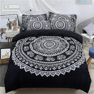 3Pcs/Set Black Bohemia Mandala Printed Duvet Cover Set for Bed 3D Bedding Sets Twin Full Queen King Size BedSheet - thegsnd