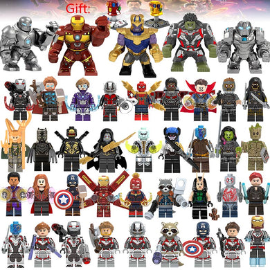 41Pcs/lot Super Heroes Building Blocks lEGOED Marvel Avengers 4 Captain Wasp figures Hulk Spiderman Iron Man Thanos Endgame Toys-Kids Playing Zone-thegsnd