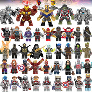 41Pcs/lot Super Heroes Building Blocks lEGOED Marvel Avengers 4 Captain Wasp figures Hulk Spiderman Iron Man Thanos Endgame Toys - thegsnd