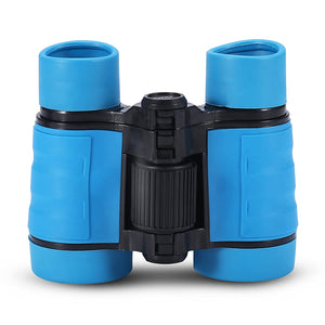 Child Binocular, 3 Colors 4 Times Blue Coated Telescope Binoculars with Lanyard and Storage Bag for Kids Outdoor Hunting Birdwatching Travelling Climbing-Toys and Games-Amazon-Blue-thegsnd