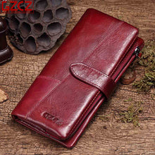 Load image into Gallery viewer, GZCZ Genuine Leather Women Wallet Purse Female Luxury Cow Leather Business Women's Handbag Genuine Leather Pouch - thegsnd