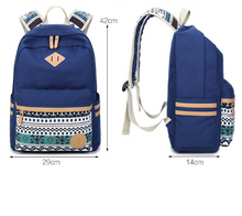 Load image into Gallery viewer, Shoulder bag female Korean canvas student bag national wind travel backpack computer bag ladies college wind tide - thegsnd