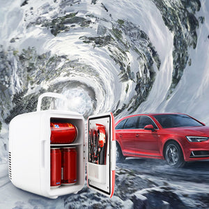 4L12V Mini Car Refrigerator Dual-Use Auto Home Low Noise Cooler Warmer For Drinks Snacks Meals Beer Cooler-Car accessories.-thegsnd