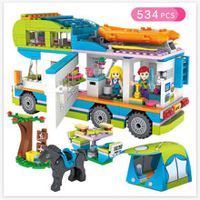 Load image into Gallery viewer, 534pcs Children's Building Blocks Girls Series City Outing Camper Car Friends Compatible Bricks Toys For Children Gift - thegsnd