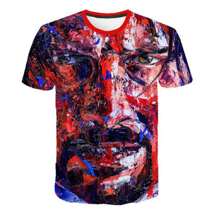 T-Shirt John Wick the Boogie Man Movie 3D Print John Wick: Chapter 3 - Parabellum T Shirt O-neck Short Keanu Reeves Killer - thegsnd