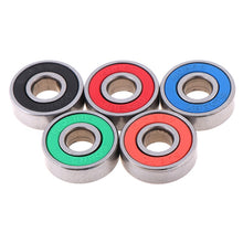 Load image into Gallery viewer, 5x ABEC-9 608 2RS Inline Roller Skate Wheel Bearing Anti-rust Skateboard Wheel Bearing Red Sealed 8x22x7mm shaft - thegsnd