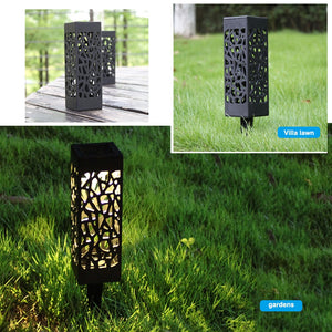 6 PCS Solar Garden Pathway Lights Lawn Lamp LED Lights Lamps For Lantern Decoration Outdoor Camping Hiking Light Tools - thegsnd