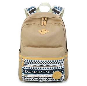 Shoulder bag female Korean canvas student bag national wind travel backpack computer bag ladies college wind tide - thegsnd