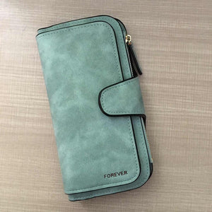Brand Leather Women Wallet High Quality Design Hasp Solid Color Card Bags Long Female Purse 8 Colors Ladies Clutch Wallet - thegsnd