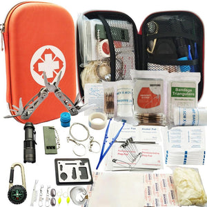 79 in 1 Outdoor survival kit Set Camping Travel Multifunction First aid SOS EDC Emergency Supplies Tactical for Hunting tool SOS - thegsnd