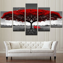 Load image into Gallery viewer, Modular Canvas HD Prints Posters Home Decor Wall Art Pictures 5 Pieces Red Tree Art Scenery Landscape Paintings Framework PENGDA - thegsnd